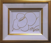 JEFF KOONS SIGNED AUTHENTIC ORIGINAL HAND SIGNED DRAWING FRAMED