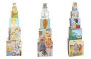 Children Playing Illustrations  Bromley David Stacked Childrens Blocks