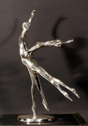 Dance of Love, Danza de Amor Bronze with silver plating - Almanzor