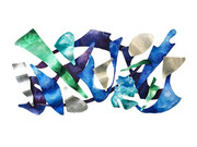 Dynamic Steve Zaluski Signed Large modern WALL SCULPTURE