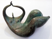 BENEDETTI AU BONHEUR DU JOUR BRONZE SCULPTURE - AT THE HAPPINESS OF THE DAY