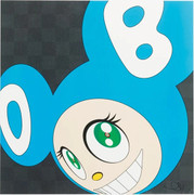 Colorful Vibrant Hand Signed TAKASHI  MURAKAMI AND THEN . . AQUA BLUE