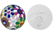 Delightful Colorful Takashi Murakami FLOWERBALL DISC ORIGINAL DRAWING With COA