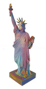 FABULOUS Peter Max Large Signed LIBERTY BRONZE Sculpture