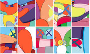 FABULOUS KAWS RARE FULL SUITE NO REPLY PORTFOLIO