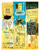 Large Colorful Jean Michel Basquiat Giclee Print Charles First 1982