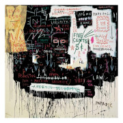 Fab Large Jean Michel Basquiat Giclee Broadway Print 1983