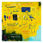 Large Jean Michel Basquiat Giclee Hollywood Africans Print 1983