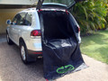 Bootute®  - Large fitted to a Volkswagen Toureag.  You can see that the straps are attached to the hinges on the rear tailgate