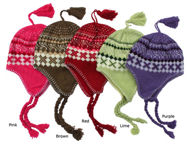 Knit snow beanies for women and teens.