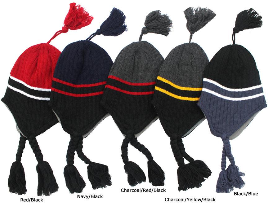 05c2f68f9f1 Preschool Kid s Striped Winter Hats (Fits ages 4-7). Loading zoom.  Preschool Kid s Striped Winter Hats ...