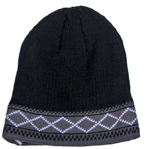 Men's Black Insulated Winter Hat
