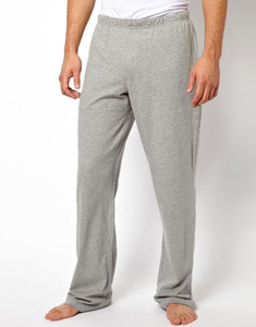 Men's Light Grey Jersey Cotton Lounge Pants
