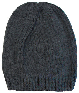 Men's Wool Winter Beanie (Charcoal)