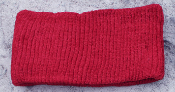 Women's Chenille Winter Headband (Red)