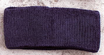 Women's Chenille Winter Headband (Deep Purple)