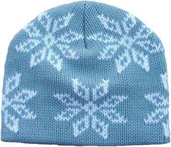 Girl's ATTABOY Snowflake Beanie (Stone Blue)