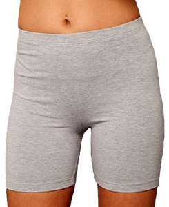 Women's cotton spandex bike shorts.