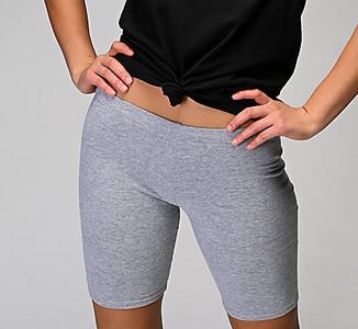 Cotton spandex shorts.