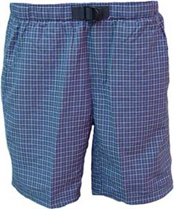 Kid's Navy Blue Seersucker Shorts