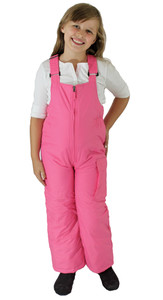 Girl's Insulated Pink Bib Ski Pants (Bubble Gum Pink)