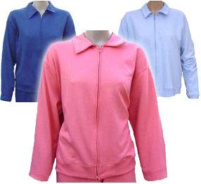 HANES HER WAY Women's Zippered Sweat Jacket