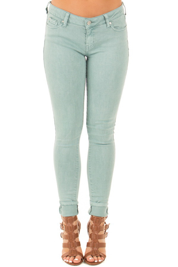 Aquifer Mid Rise Skinny Jeans front view