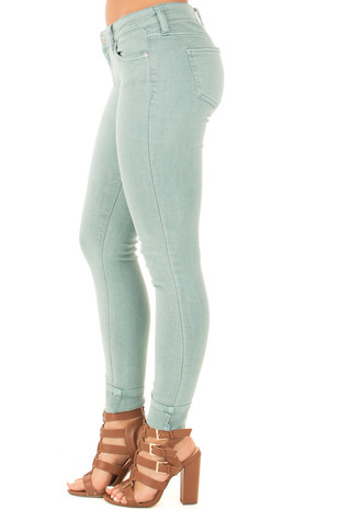Aquifer Mid Rise Skinny Jeans side right leg