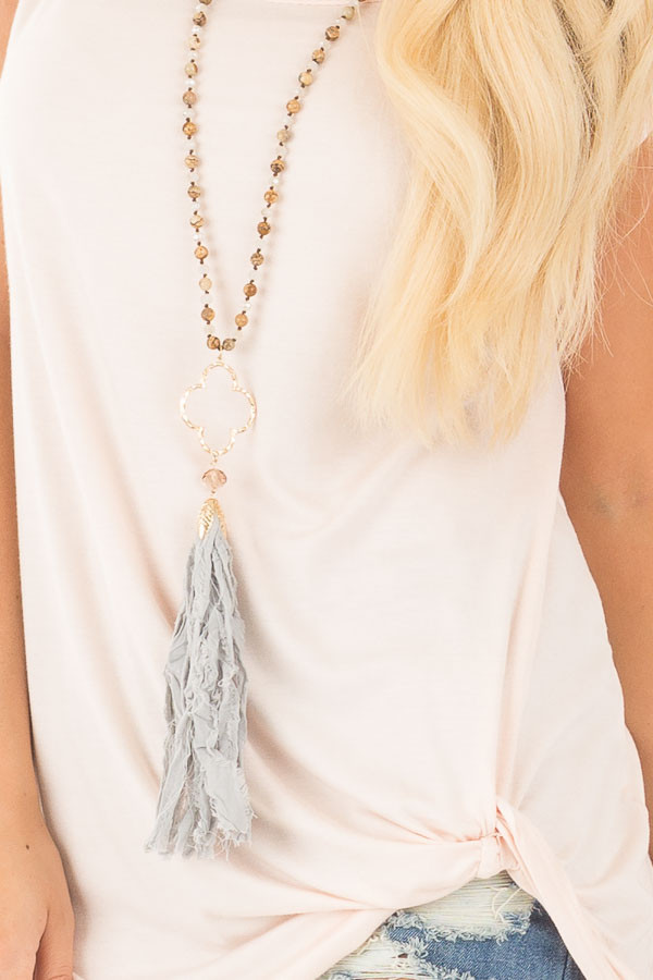 Blush Sleeveless Top with Twist Detail detail