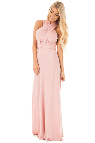 Blush Multi-Way Top Maxi Dress front full body