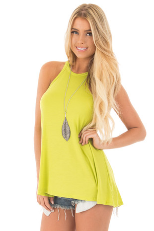 Avocado Loose Fit Swing Halter Tank front close up