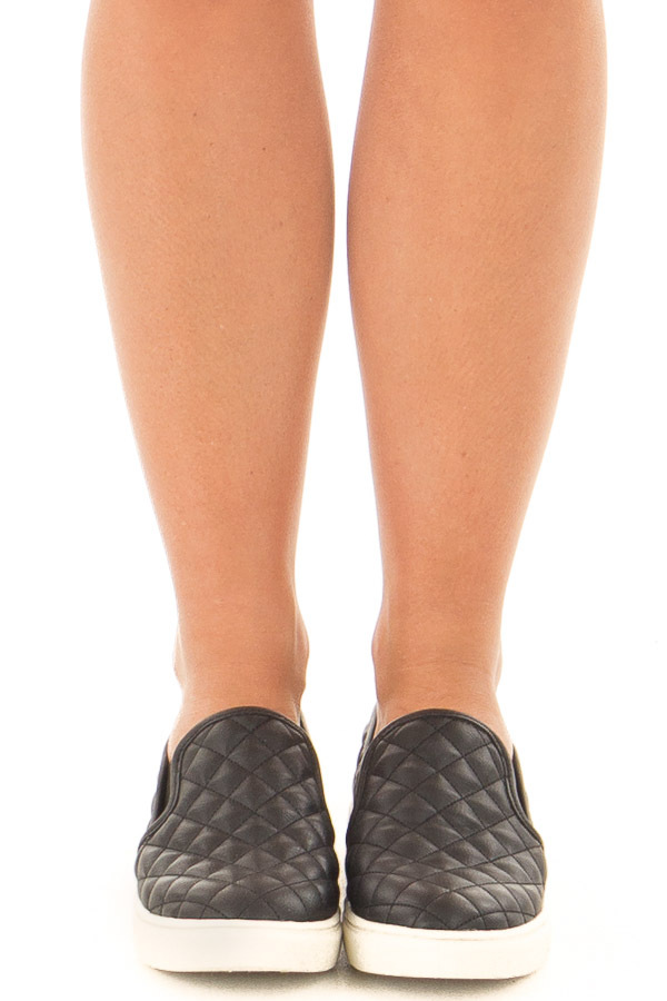 Black Diamond Quilted Sporty Slip On Sneaker front view