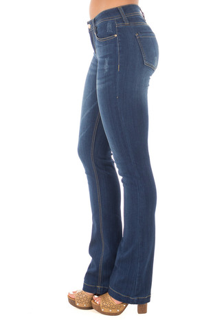 Dark Wash Kick Boot Jeans side right leg