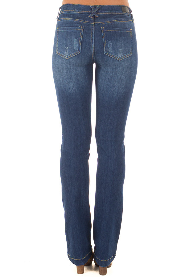 Dark Wash Kick Boot Jeans back view
