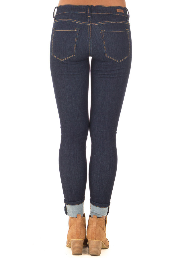 Dark Wash Skinny Jeans back view