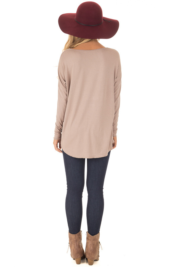 Coco Drop Shoulder Long Sleeve Surplice Top back full body