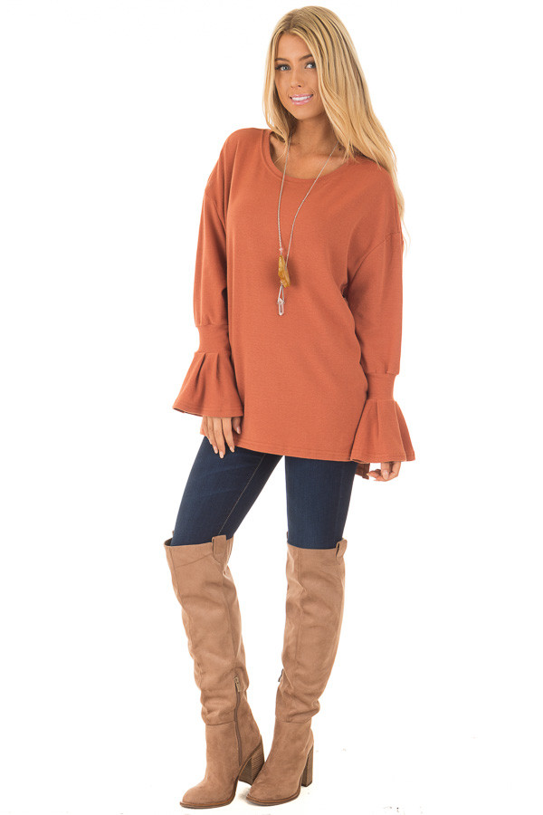 Brick Sweater with Bell Sleeves front full body