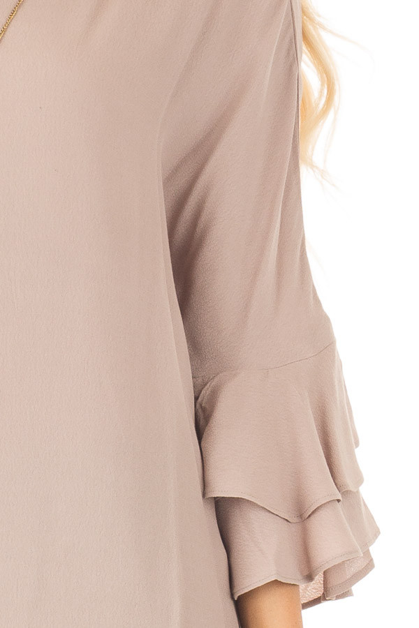 Dove Blouse with Tiered Flare Sleeves detail