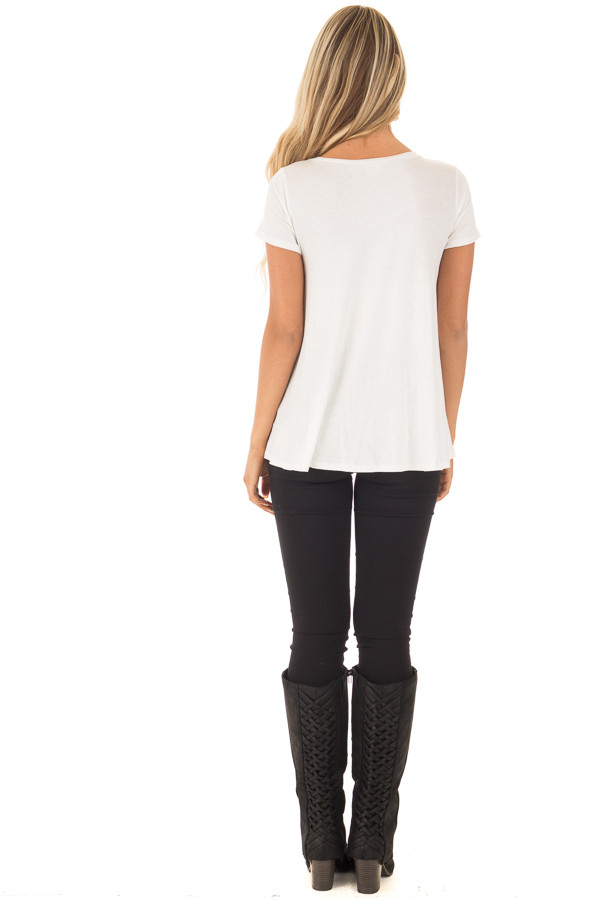 Ivory 'Live Your Dreams' Top back full body