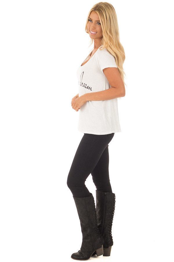 Ivory 'Live Your Dreams' Top side full body