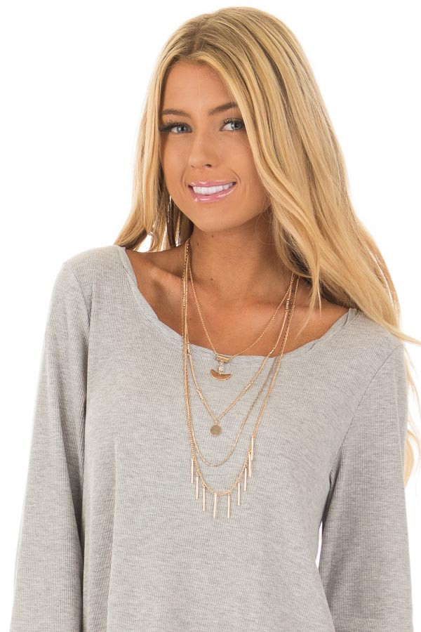 Gold Layered Necklace with Pendant Details