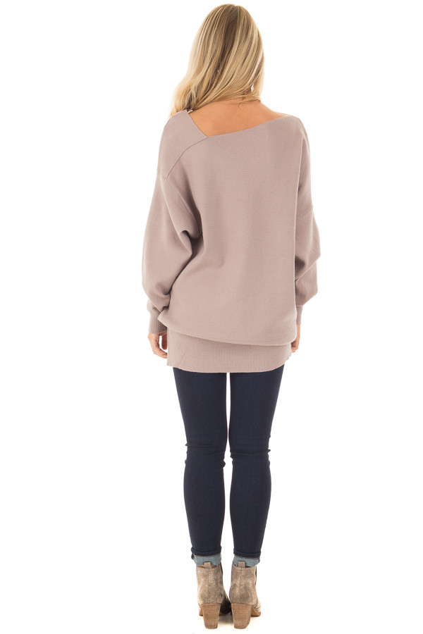 Cocoa Long Sleeve Cold Shoulder Top back full body