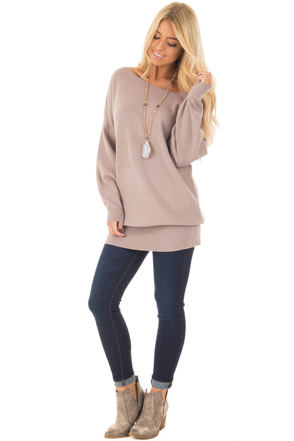 Cocoa Long Sleeve Cold Shoulder Top front full body