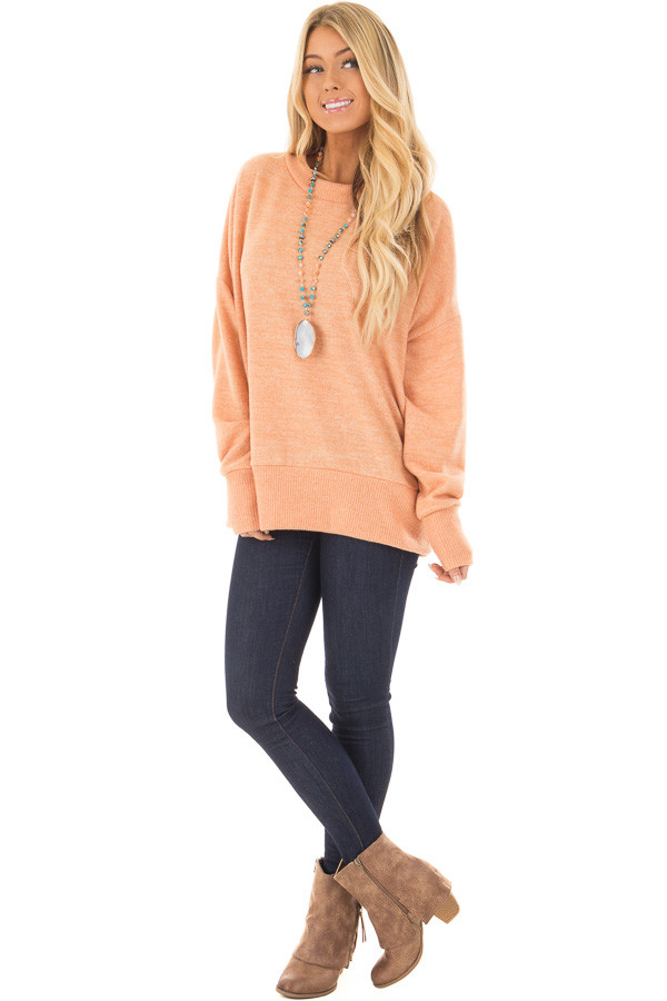 Sherbet Super Soft Oversized Sweater with Ribbed Hemline - Lime ...