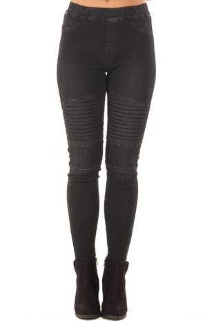 Dark Denim Moto Jeggings front