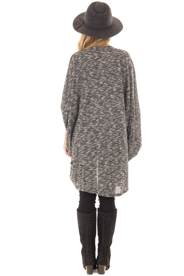 Charcoal Tone Toned Cardigan back full body