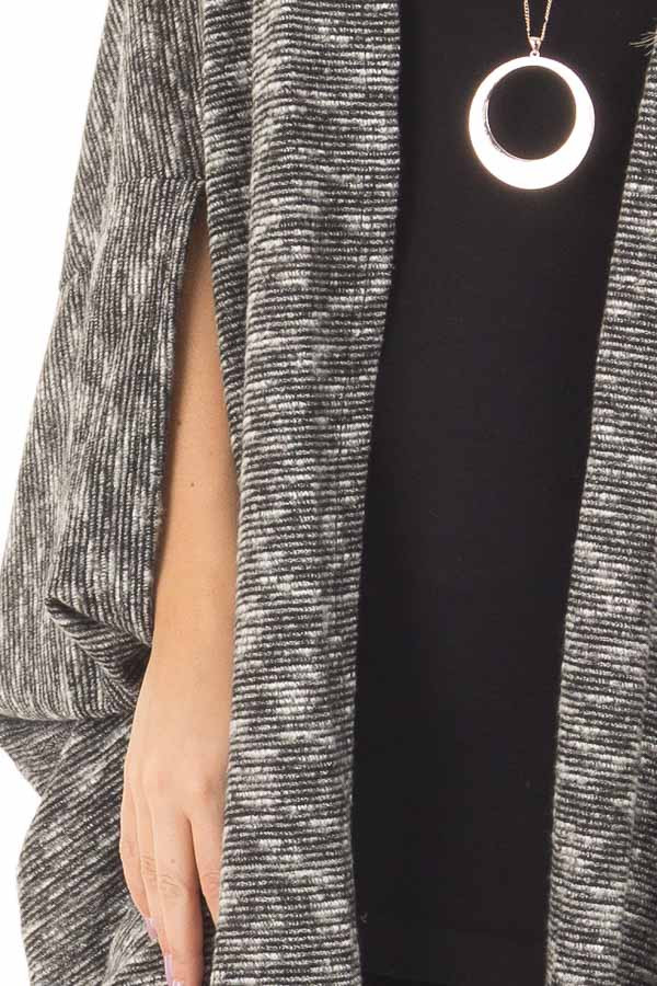 Charcoal Tone Toned Cardigan front detail