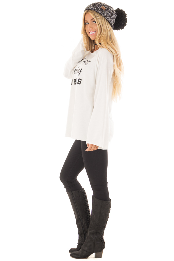 Off White 'Easy Like Sunday Morning' Comfy Top side full body