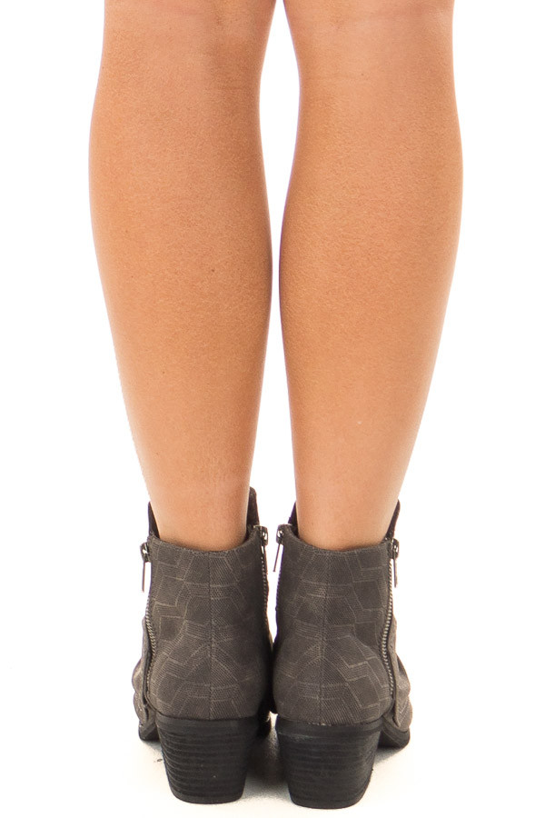 Charcoal Slouchy Bootie with Small Heel back view