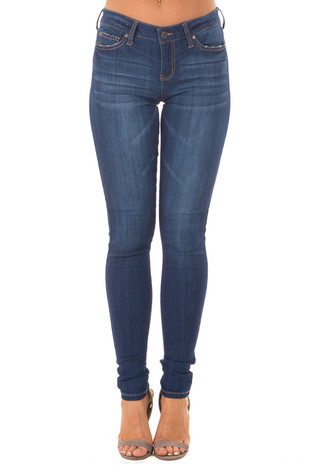 True Blue Super Skinny Jeans front view